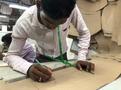 The experience hand on grading at Billoomi Fashion Factory