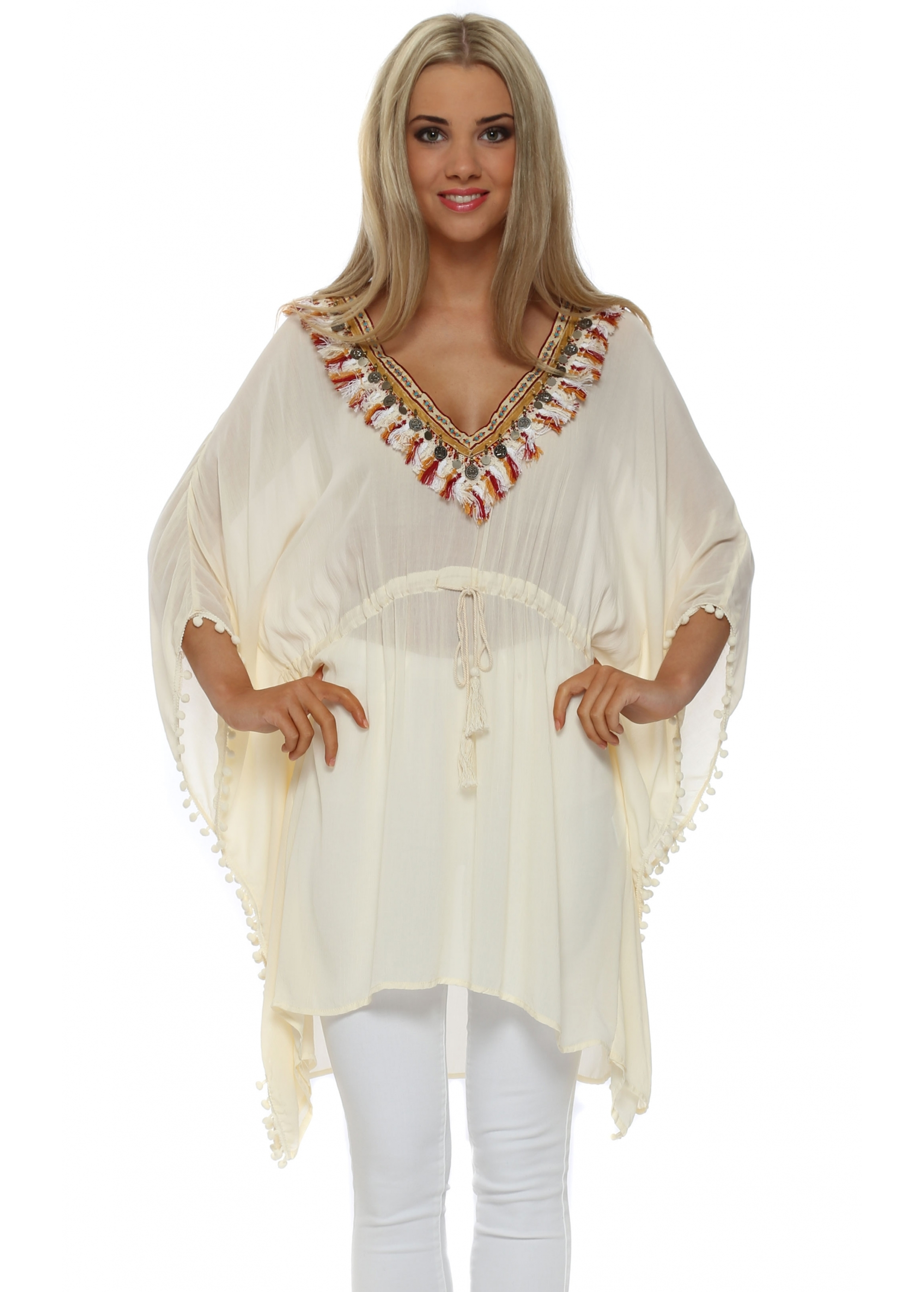 Bohemian Kaftans with Tussles