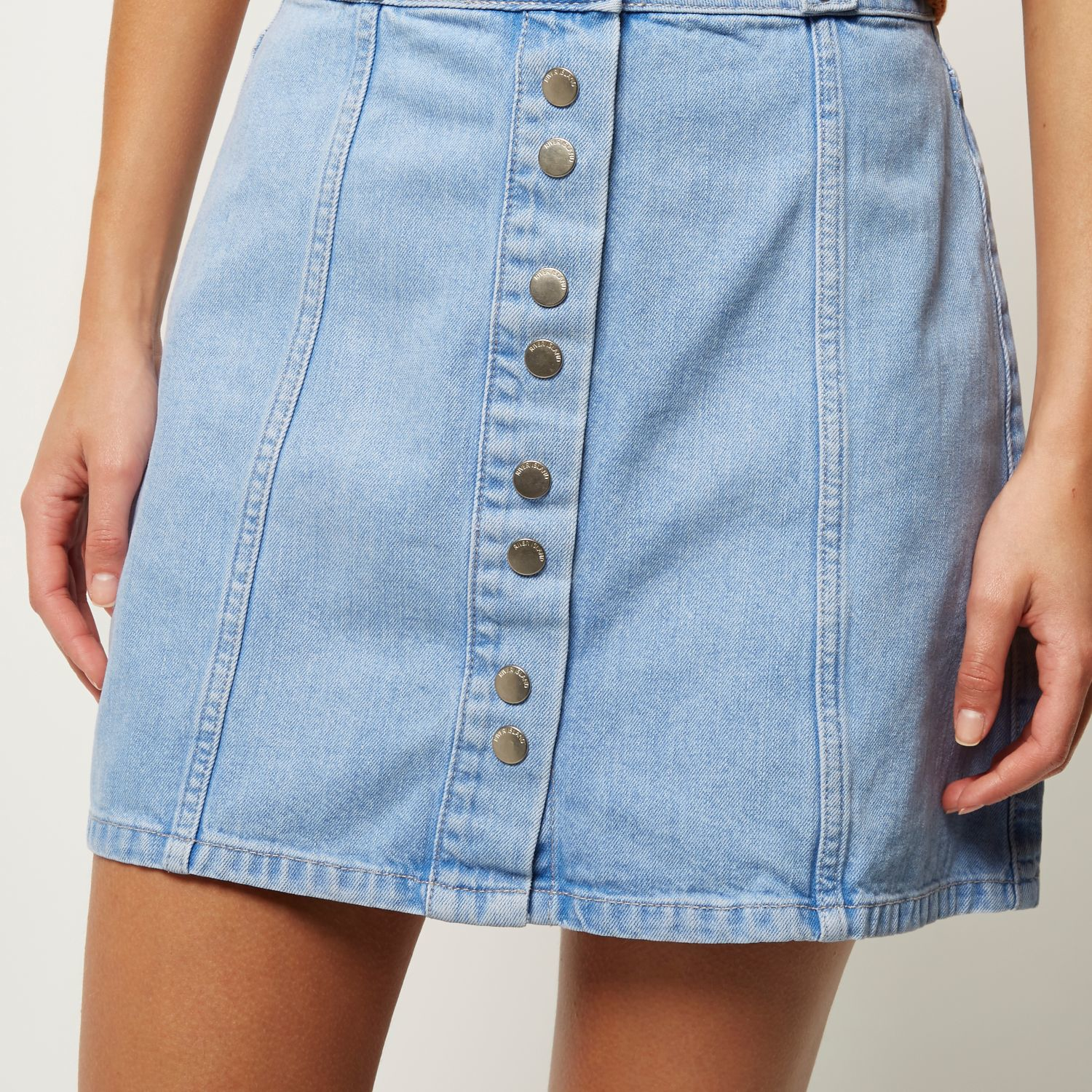 Light Denim Skirts for Women
