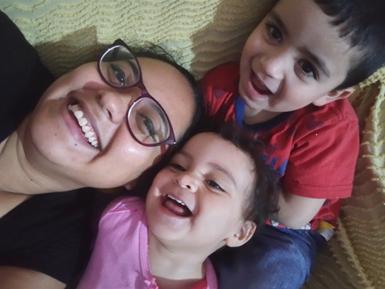 Amo a mis hijos en el pecho