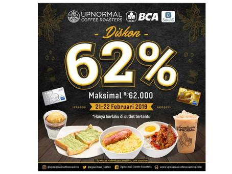 HEBOH!! DISKON 62% di Upnormal dari Bank BCA