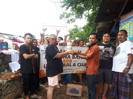 Upnormal Coffee, Bakso Boedjangan & Air Mineral Club Berikan Ratusan Makanan Kepada Korban Banjir