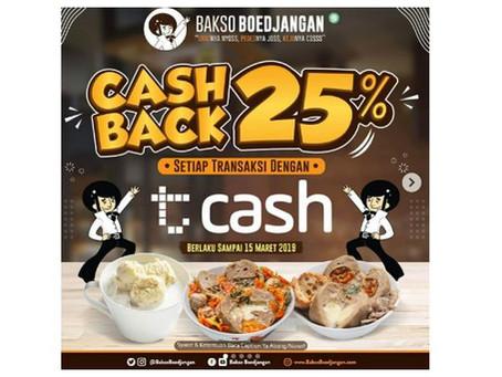 CRP X Telkomsel-Cash: Bayar Pakai T-Cash Dapat Cashback 25%!
