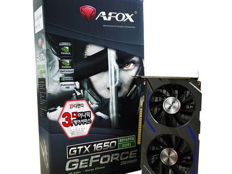 디앤디컴, 듀얼팬이 원팬 가격! AFOX 지포스 GTX 1650 D5 4GB DUAL 출시!