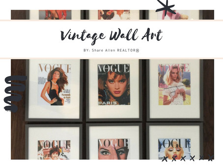 VINTAGE VOGUE WALL ART UNDER $75