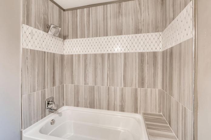 Custom Tile in Tub/Shower