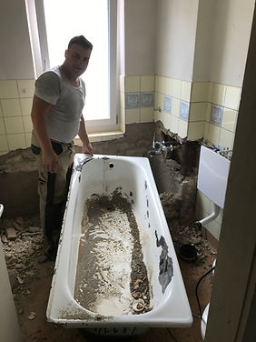 Badezimmer Rückbau