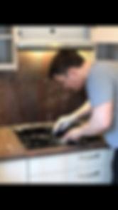 Reinigung einer Küche für Endabnahme