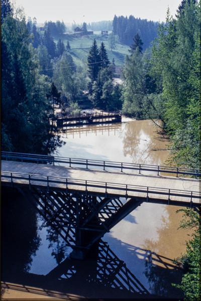Näkymä Siippoontieltä alavitaan 1995