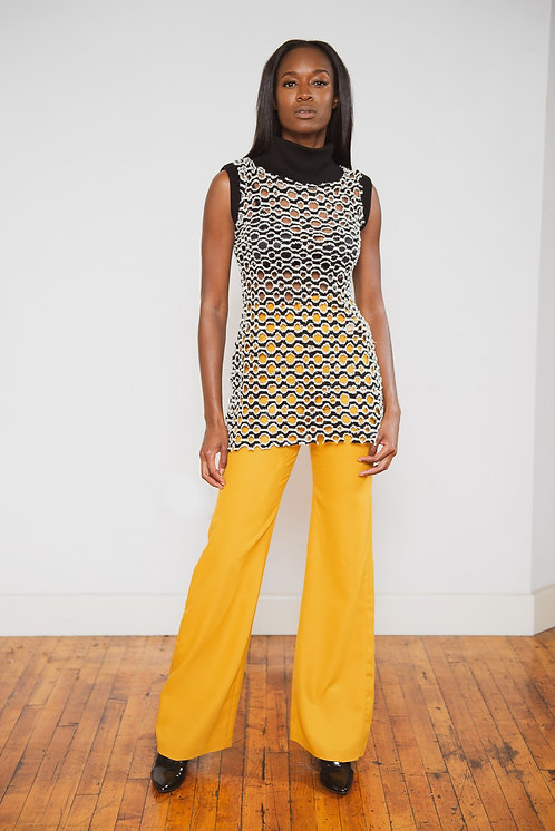 Kelly Mustard Flare Pants