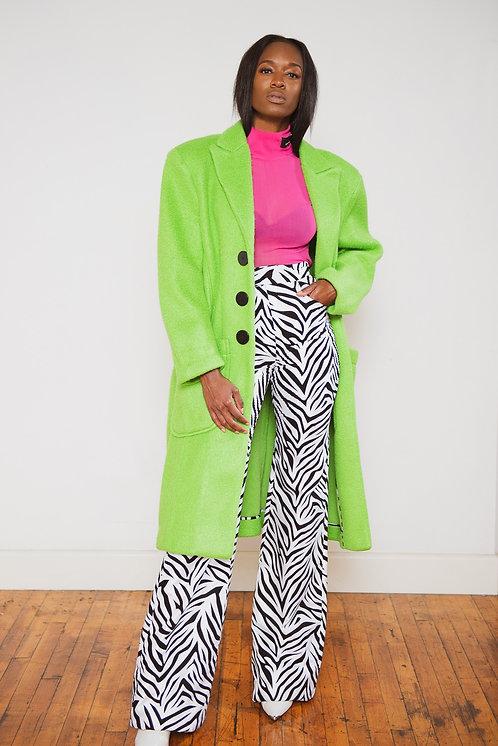Sylvia Neon Green Coat