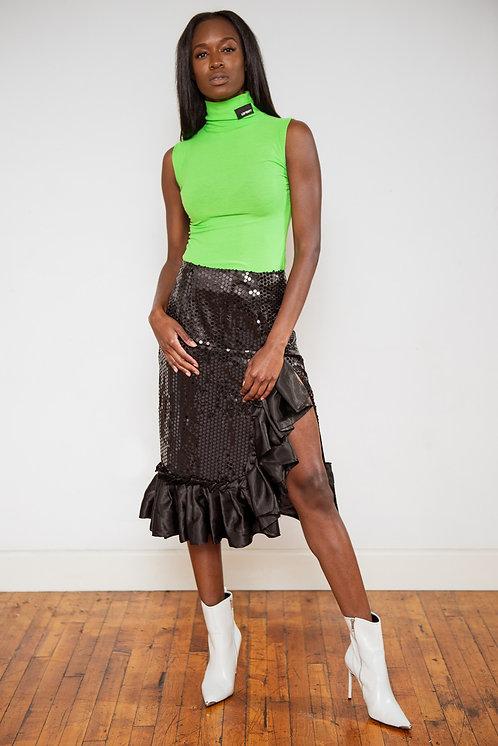 Nancy Sequin Back Skirt