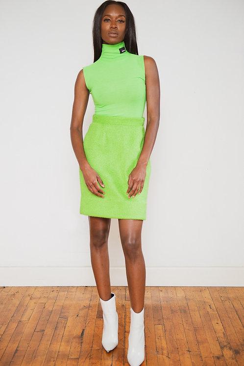 Heather Neon Green Skirt