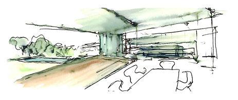 V-House Sketch Interior