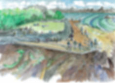 Watercolour sketch design of Lookout