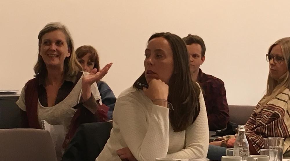 Gunelie Winum (to the left) talks about the importance of procurement policies