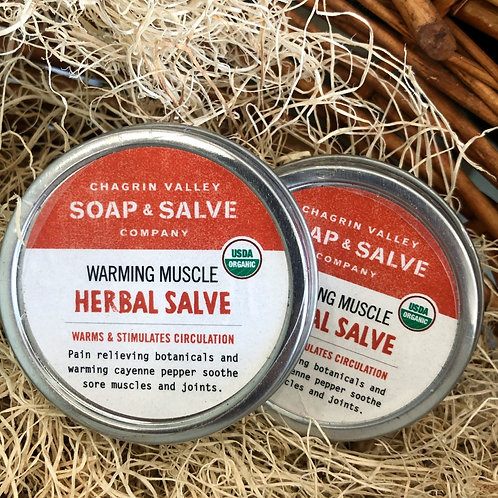 Warming Muscle - Herbal Salve 2oz