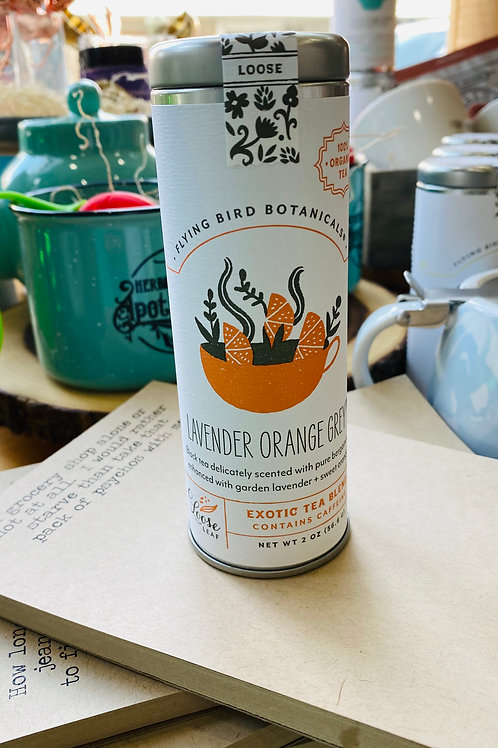 Lavender Orange Grey Loose Leaf