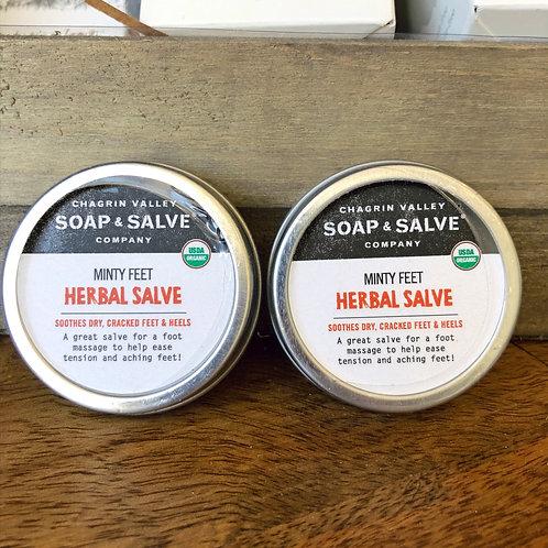 Herbal Salve - Minty Feet 1oz