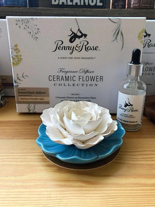Roasted Maple Mallow - Ceramic Flower