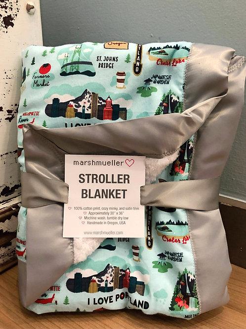 Stroller Blanket - Oregon