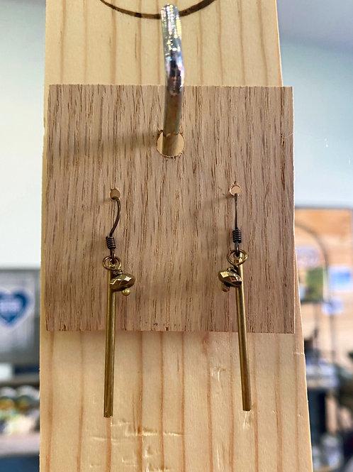 Gold Rod Earring