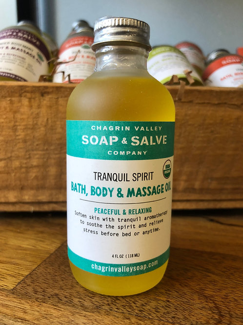 Tranquil Spirit - Bath, Body & Massage Oil
