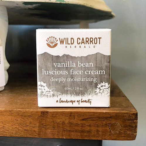 Wild Carrot - Vanilla Bean Luscious Face Cream