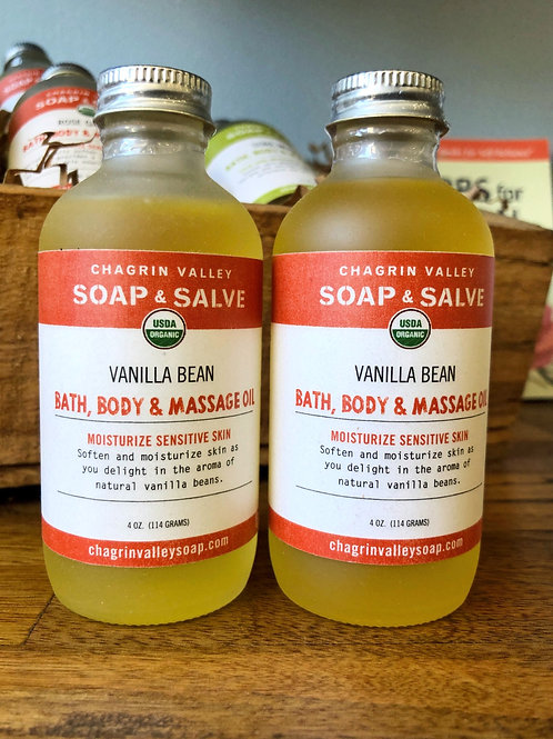 Vanilla Bean - Bath, Body & Massage Oil