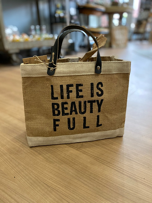 Life is Beauty FULL Mini Market Tote