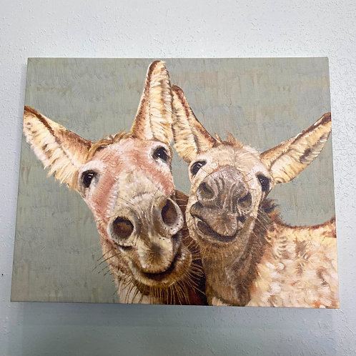 Wall Art - Los Dos Donkeys 18x14