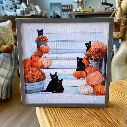 Wall Art - Five Black Cats