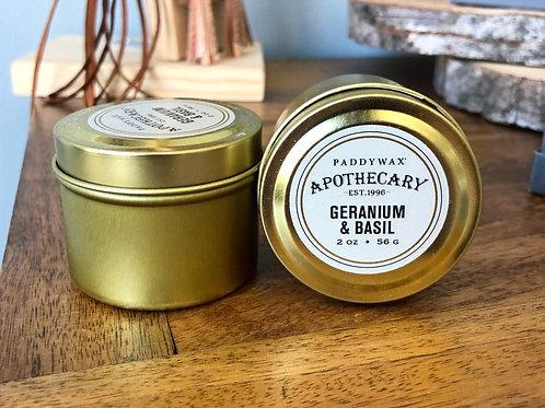 Geranium & Basil - Candle 2oz