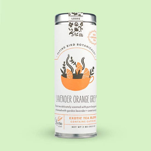 Lavender Orange Grey Loose Leaf Tea