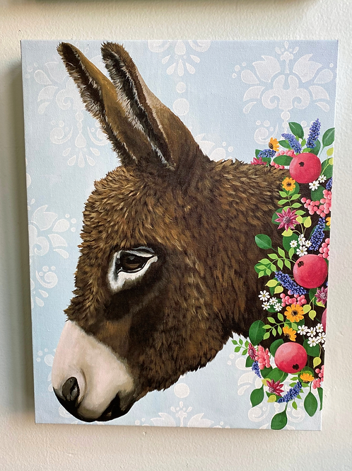 Wall Art - Donkey Next Door 14x18