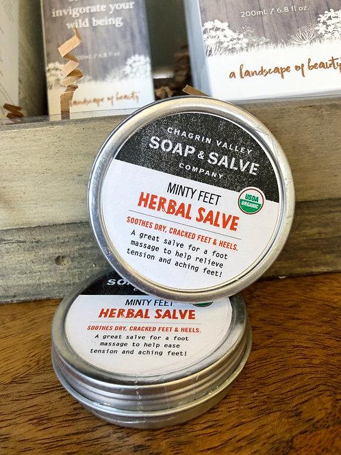 Herbal Salve - Minty Feet 2oz