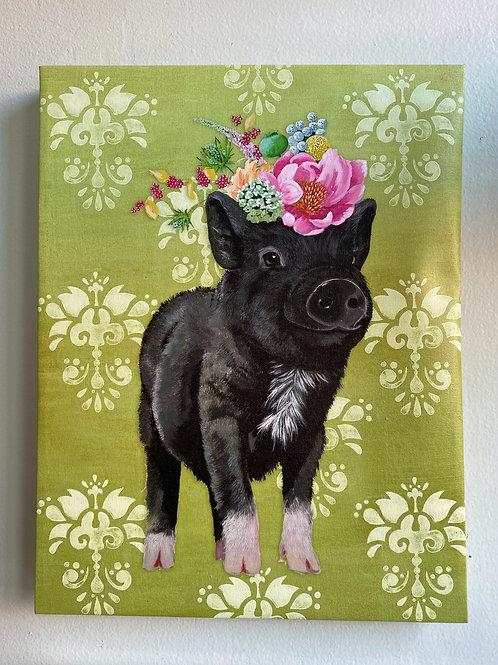 Wall Art - Showing Off Piggy 14x18