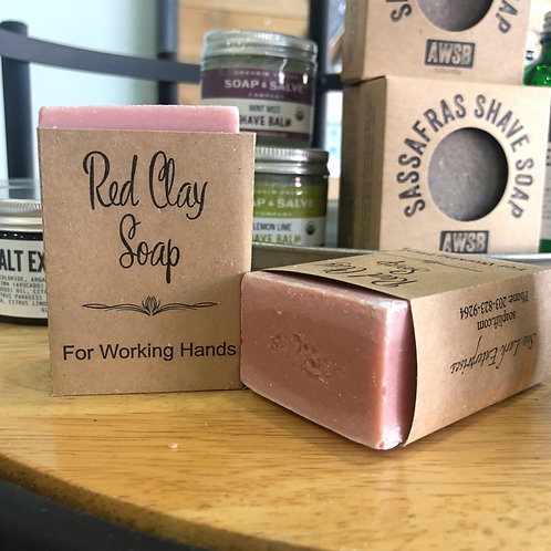 Red Clay Soap - For Working Hands
