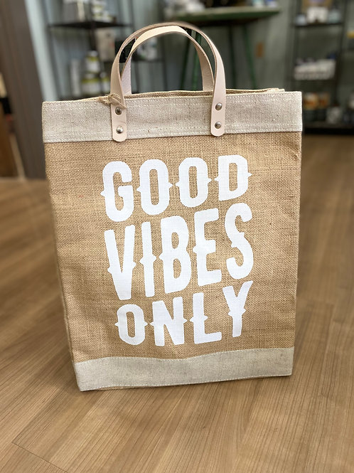 Good Vibes Only Market Tote