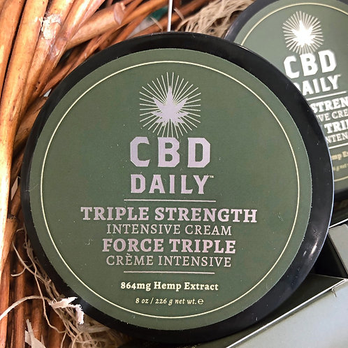 CBD Daily - Triple Strength Intensive Cream 8oz