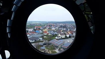 View of Abensberg from the top of the Kuchlbauer -Turm