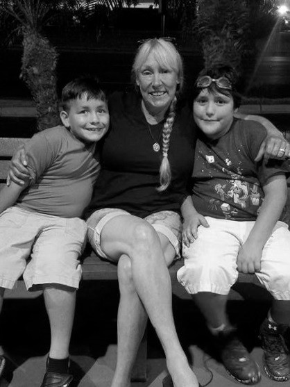 With grandsons in Harlingen Texas