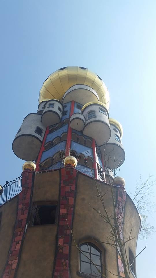 View of th Kuchlbauer-Turm from the bier garten
