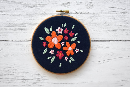 Tropical Garden Embroidery Hoop