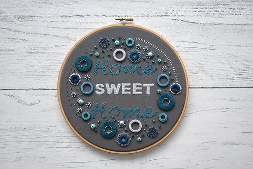 Home Sweet Home Embellished Hoop