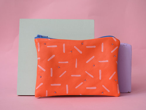 Dot & Dash Embellished Pouch