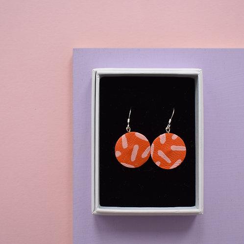 MidiLeather Painted Hook Earrings