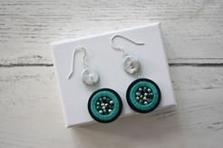 Double Embellished Hook Earrings