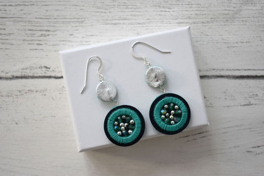 Double Embellished Hook Earrings