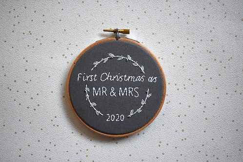 First Christmas as Mr & Mrs Christmas Decoration